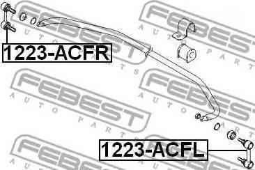Febest 1223-ACFR - Тяга / стойка, стабилизатор autodnr.net