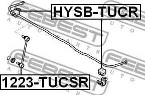 Febest 1223-TUCSR - Тяга / стойка, стабилизатор car-mod.com