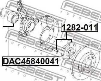Febest 1282011 - Ступица колеса, поворотный кулак car-mod.com