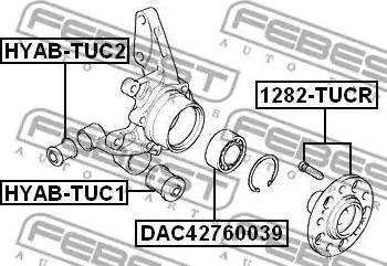 Febest 1282TUCR - Ступица колеса autodnr.net