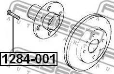 Febest =1284001 - Болт крепления колеса autodnr.net