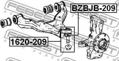 Febi Bilstein ZSD-ME-002F - Шаровая опора, несущий / направляющий шарнир car-mod.com