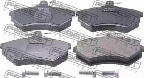 Febest 1701-8D2F - Тормозные колодки, дисковые car-mod.com