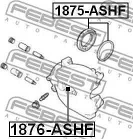 Febest 1875-ASHF - Ремкомплект, тормозной суппорт avtokuzovplus.com.ua