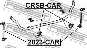 Febest 2023-CAR - Тяга / стойка, стабилизатор car-mod.com