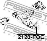 Febest 2120-FOC - Шаровая опора, несущий / направляющий шарнир car-mod.com