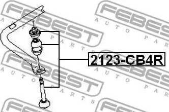 Febest 2123-CB4R - Тяга / стойка, стабилизатор autodnr.net