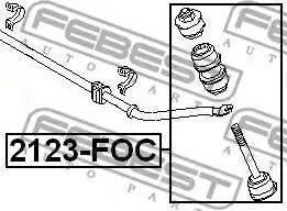 Febest 2123-FOC - Тяга / стойка, стабилизатор autodnr.net