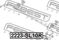 Febest 2223-SL10R - Тяга / стойка, стабилизатор autodnr.net