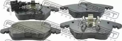 Febest 2301-362F - Тормозные колодки, дисковые car-mod.com