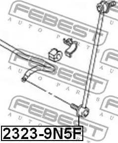 Febest 2323-9N5F - Тяга / стойка, стабилизатор car-mod.com