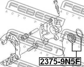 Febest 2375-9N5F - Ремкомплект, тормозной суппорт avtokuzovplus.com.ua