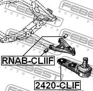 Febest 2420-CLIF - Несучий / направляючий шарнір autocars.com.ua