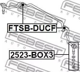 Febest 2523-BOX3 - Тяга / стойка, стабилизатор car-mod.com