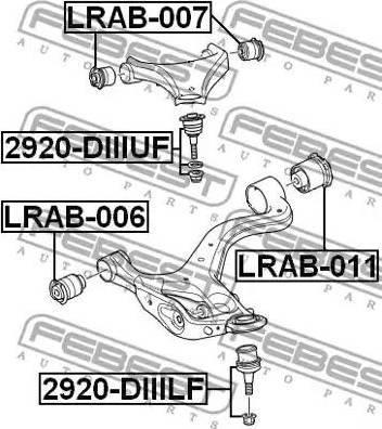 Febest 2920-DIIILF - Шаровая опора, несущий / направляющий шарнир car-mod.com