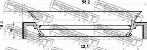 Febest 95HAY35550915C - Уплотнительное кольцо вала, приводной вал autodnr.net