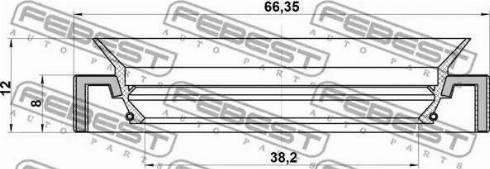 Febest 95HAY40660812R - Уплотнительное кольцо вала, приводной вал autodnr.net