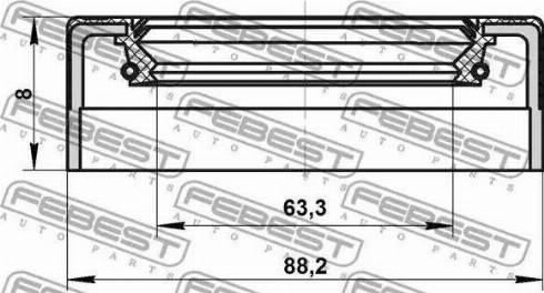 Febest =95NES65880808C - Уплотняющее кольцо, ступенчатая коробка передач autodnr.net