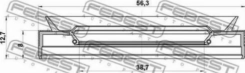 Febest 95pes40560813c - Уплотняющее кольцо вала, автоматическая коробка передач autodnr.net