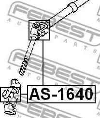 Febest AS1640 - Шарнир, вал сошки рулевого управления car-mod.com