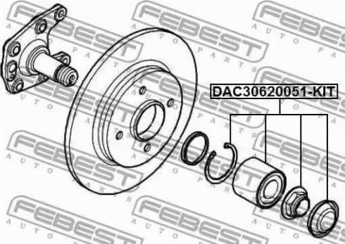 Febest DAC30620051-KIT - Комплект подшипника ступицы колеса car-mod.com