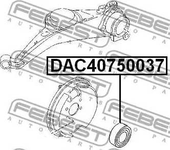 Febest DAC40750037 - Подшипник ступицы колеса autodnr.net