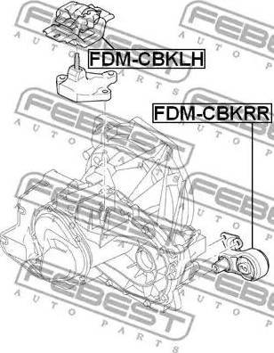 Febest FDM-CBKLH - Подушка, підвіска двигуна autocars.com.ua