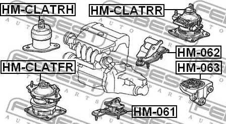 Febest hm-061 - Подвеска, автоматическая коробка передач autodnr.net