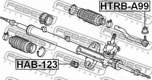 Febest HTRBA99 - Ремкомплект, наконечник поперечной рулевой тяги car-mod.com