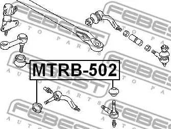 Febest mtrb502 - Ремкомплект, наконечник поперечной рулевой тяги autodnr.net