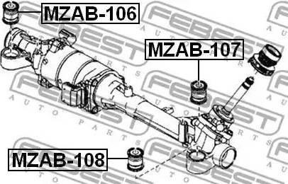 Febest mzab106 - Подвеска, рулевое управление autodnr.net