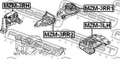 NTY ZPS-MZ-005 - Подушка, подвеска двигателя car-mod.com