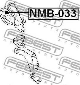 Febest NMB033 - Подвеска, двигатель autodnr.net