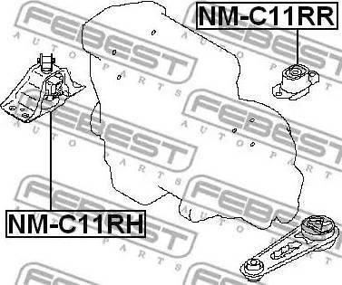 Febest NMC11RR - Подвеска, двигатель autodnr.net