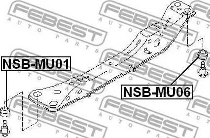 Febest =NSBMU01 - Втулка, балка моста autodnr.net