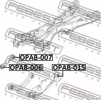 Febest OPAB-015 - Подвеска, рычаг независимой подвески колеса autodnr.net