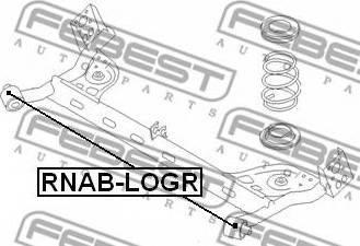 Febest RNAB-LOGR - Втулка, балка моста autodnr.net