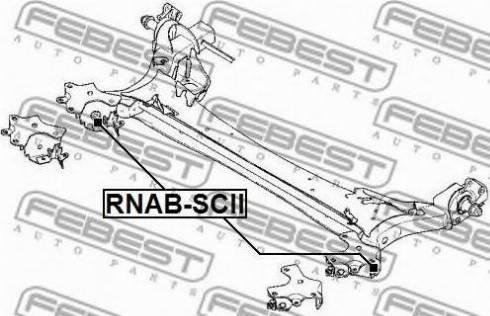 Febest RNAB-SCII - Втулка, балка мосту autocars.com.ua