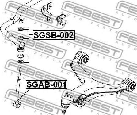 Febest SGSB-002 - Подвеска, стойка вала autodnr.net