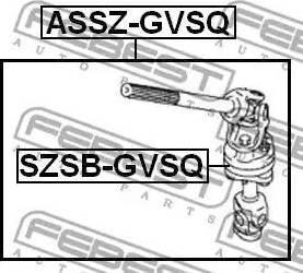 Febest SZSBGVSQ - Втулка, вал сошки рулевого управления autodnr.net