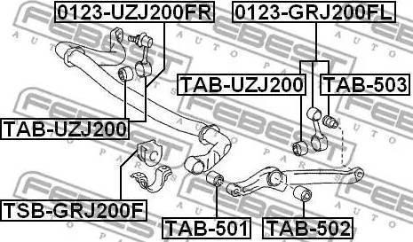 Febest TAB503 - Подвеска, стойка вала autodnr.net