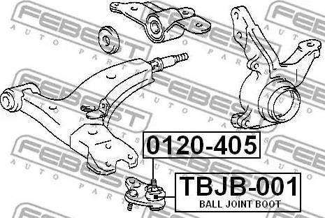 Febest TBJB-001 - Ремонтный комплект, несущие / направляющие шарниры car-mod.com