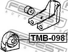 Febest tmb-098 - Подвеска, двигатель autodnr.net