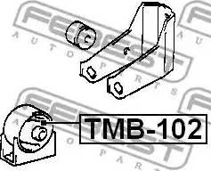 Febest tmb-102 - Подвеска, двигатель autodnr.net