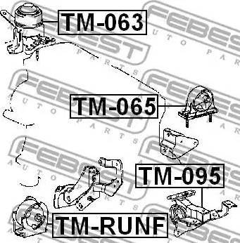 Febest tmrunf - Подвеска, двигатель autodnr.net