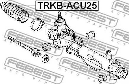Febest TRKB-ACU25 - Пыльник, рулевое управление autodnr.net