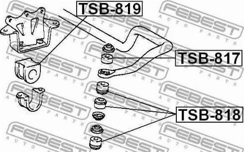 Febest tsb-817 - Подвеска, стойка вала autodnr.net