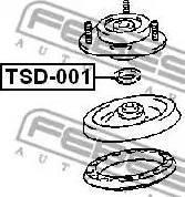 Febest TSD-001 - Элементы крепления амортизатора avtokuzovplus.com.ua