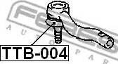 Febest TTB004 - Ремкомплект, наконечник поперечной рулевой тяги avtokuzovplus.com.ua