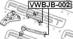 Febest VWBJB-002 - Ремонтный комплект, несущие / направляющие шарниры car-mod.com